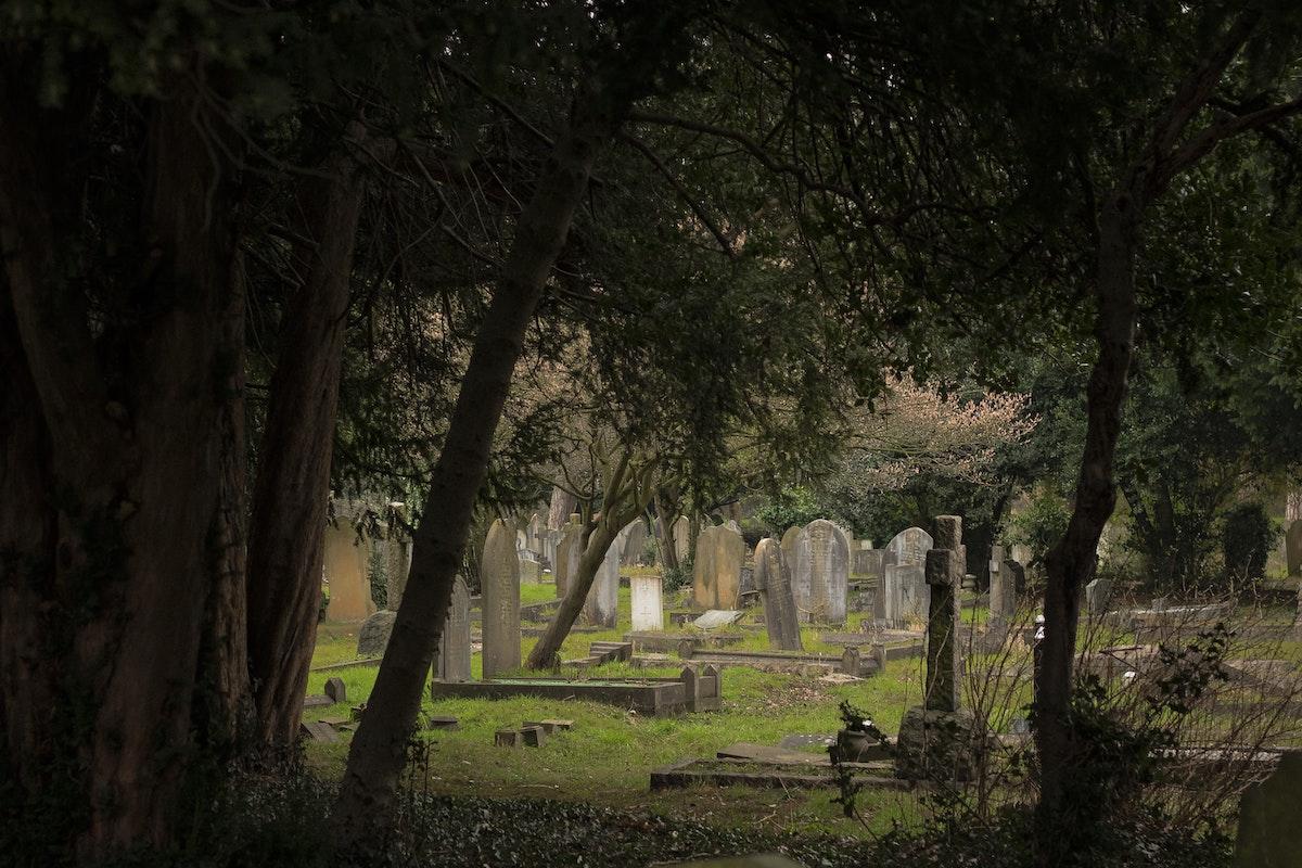 urban cemetery sit spot
